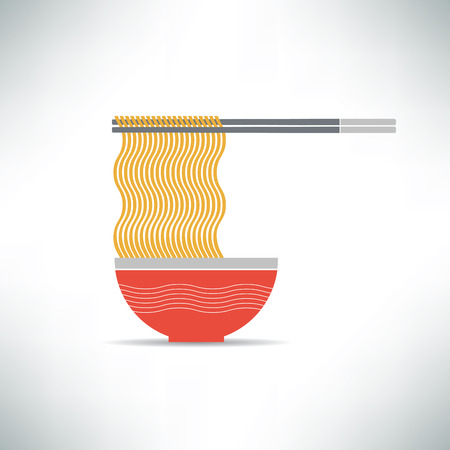 Yellow Noodle Illustration