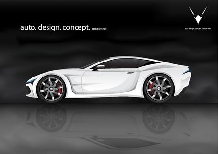 car wheel: prototipo de autom�vil deportivo Vectores