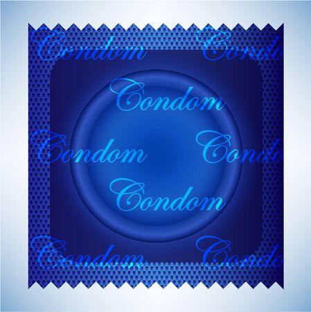 blue condom