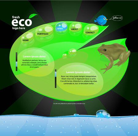 eco website Stock Vector - 9150670