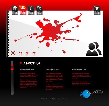 web page design with splatter Stock Vector - 9150666