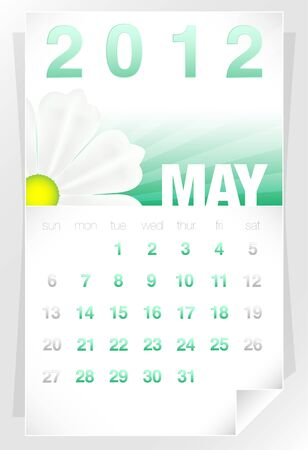 2012 Floral May Calendar Vector