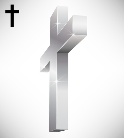 christian faith: 3d cross
