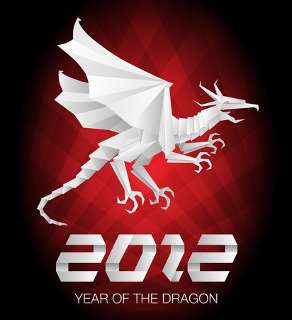 2012 Year of the Dragon - origami Stock Vector - 10461633
