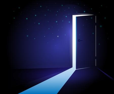 door open: Abstract Open Door Illustration