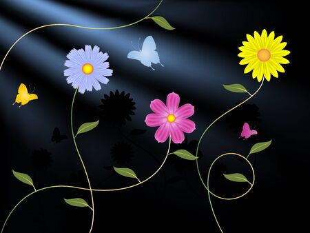 dreamy: Flowers and butterflies