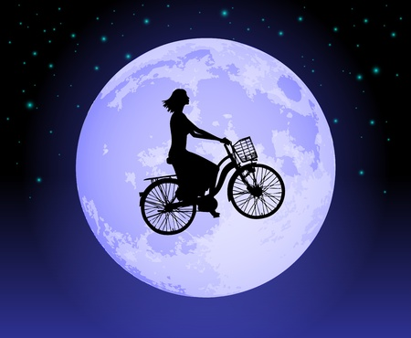 Magic bicycle Illustration
