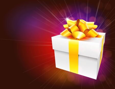 Colorful Gift Box Background Vector