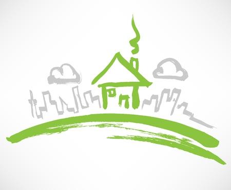 Pequeña Casa en la Colina Verde