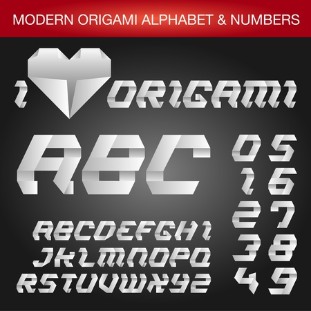 paper fold: Origami Alphabet