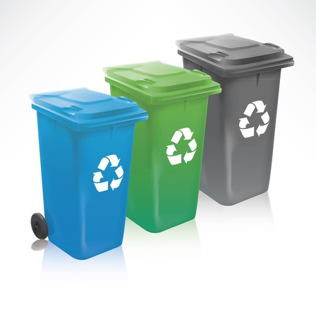 papelera de reciclaje: Reciclar Moderno Bins