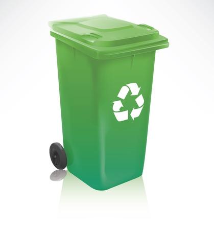 papelera de reciclaje: Moderna papelera de reciclaje Vectores