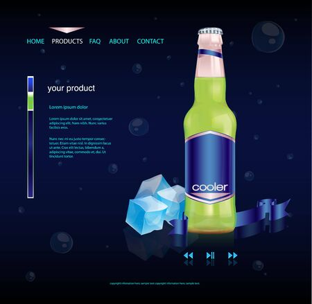 water cooler: Beverage product website