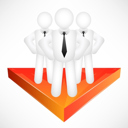 progressive: Progressive Abstract Business Team Illustration