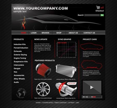 modyfikować: WWW Tuning pojazd Ilustracja