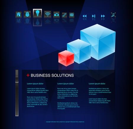 Modern business website Stock Vector - 10461737
