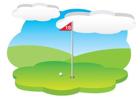 18th hole Stock Vector - 10461694