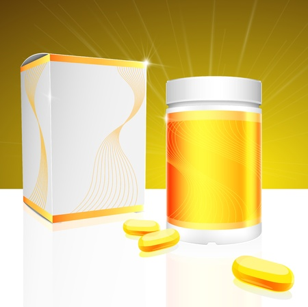 packaged: Capsule package design Illustration
