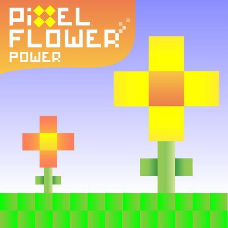 pixelate: Funky pixel flowers