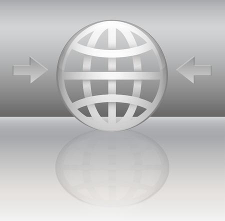 Glossy planet symbol Illustration