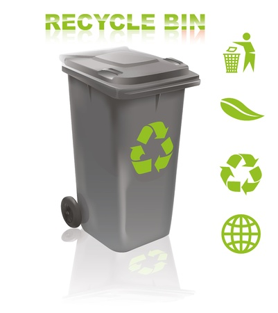 Recycle bin Stock Vector - 10461719