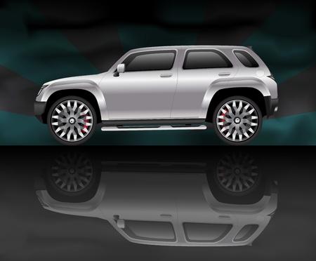 new motor vehicle: Silver sports utility vehicle