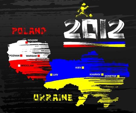 2012 Poland & Ukraine Illustration