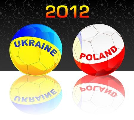 2012 Poland & Ukraine soccer Stock Vector - 10461743