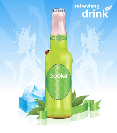green bottle: Refreshing Drink