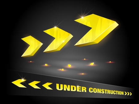 Under construction arrow background (EPS10 - Gradient, Transparency) Illustration