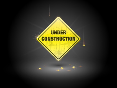 Yellow under construction sign  Stock Vector - 10761697