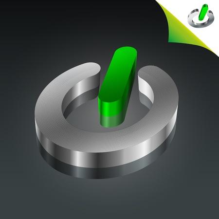 Conceptuele Green Energy Power Icoon Stock Illustratie