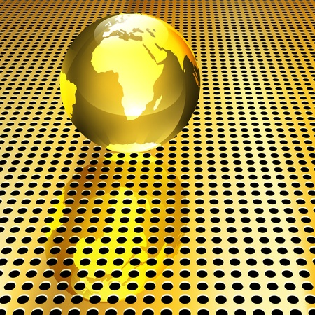 Conceptual golden globe background (EPS10 - Gradient, Transparency, Mesh)
