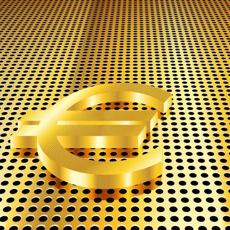 Conceptual golden euro background (EPS10 - Gradient, Transparency, Mesh) Stock Vector - 10874164