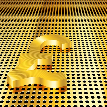 Conceptual golden pound background (EPS10 - Gradient, Transparency, Mesh) Vector