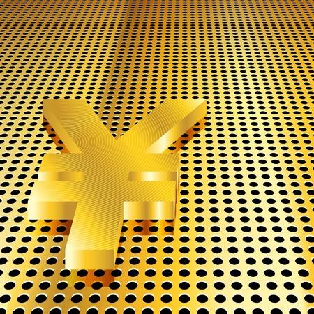 Conceptual golden yen background (EPS10 - Gradient, Transparency, Mesh) Stock Vector - 10874163
