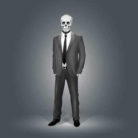 ternos: Businessman with Skull Head (EPS10 - gradient, transparency, mesh)