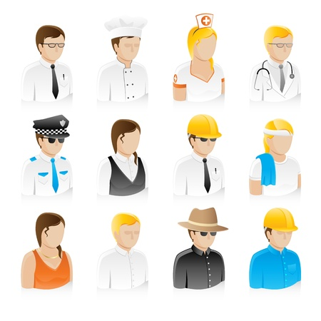nurse uniform: Professional People Collection Set (EPS8) Illustration