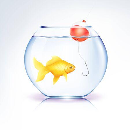 Conceptual Fish in danger  Stock Vector - 11231936