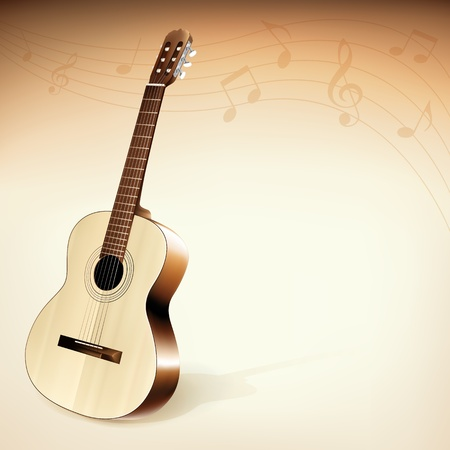 Classic Guitar Background Theme Stock Vector - 11231946