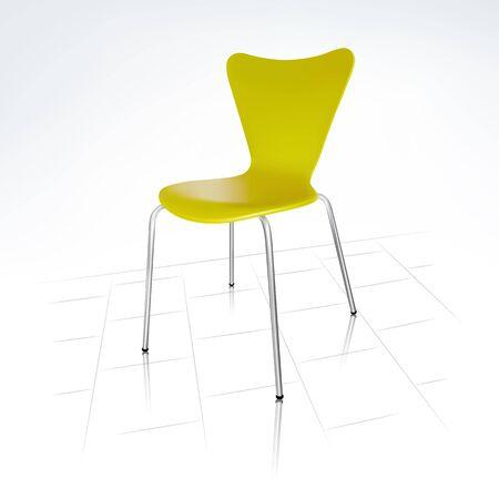 furniture detail: Realistic Modern Green Chair