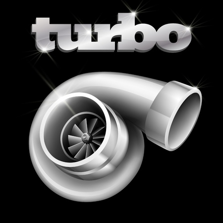 turbo: Turbo Compressor for an Automobile (EPS10) Illustration