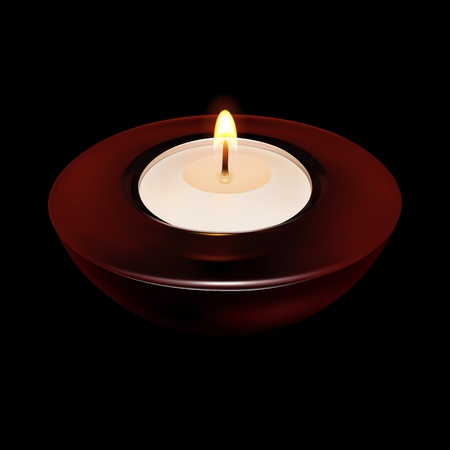 Burning Candle in the dark (EPS10) Vector