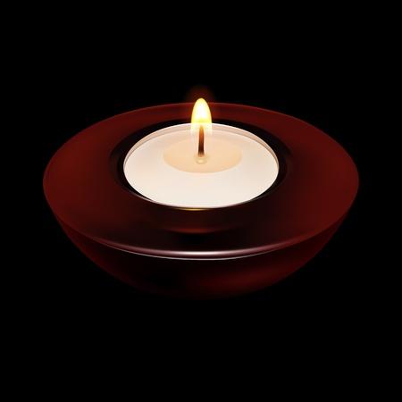 burning: Burning Candle in the dark (EPS10)