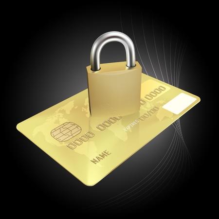 ladrones: Concepto de Seguridad Tarjeta de Cr�dito (EPS10)