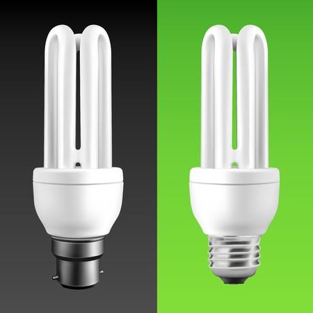 ahorro energia: El ahorro de energ�a bombillas de luz fluorescente (EPS10)