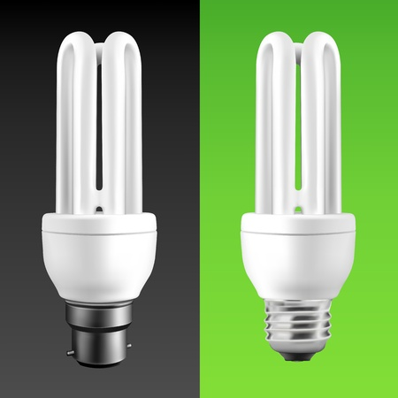 Energy Saving Fluorescent Light Bulbs (EPS10) Vector