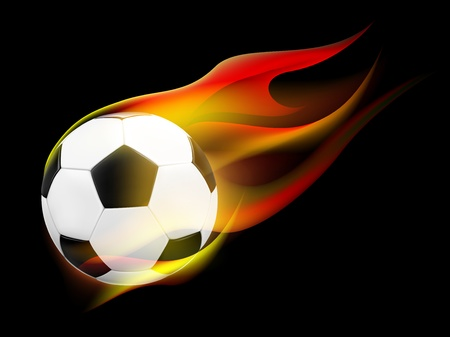 Conceptual Soccer ball with Flames (EPS10) 向量圖像