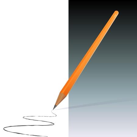 Orange Pencil with Scribble (EPS10) Stock Vector - 11551657