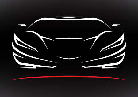 race cars: Concept Sportscar Vehicle Silhouette 3